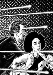More art by Russ Leach: the Twelfth Doctor and Bill.