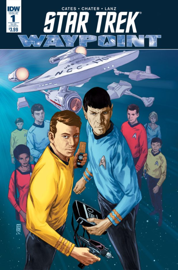 The Star Trek Original Series cover for the new Star Trek Waypoint title from IDW, out September 2016