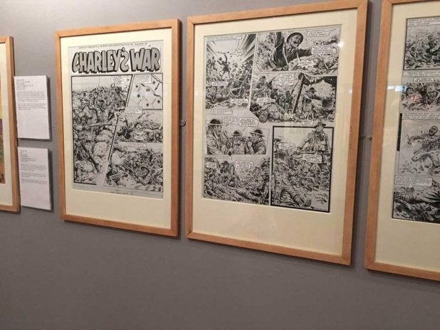 Art from the Battle strip Charley's War, written by Pat Mills, drawn by Joe Colquhoun
