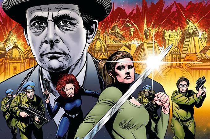 "Latest Doctor Who comic collection ""Evening's Empire"" features new pages by Richard Piers Rayner"