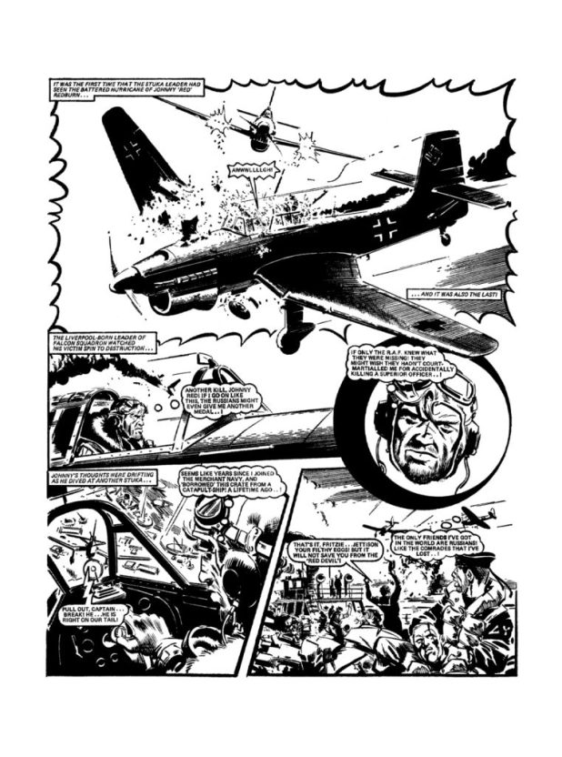 Art from Johnny Red Volume 4: Flying Gun