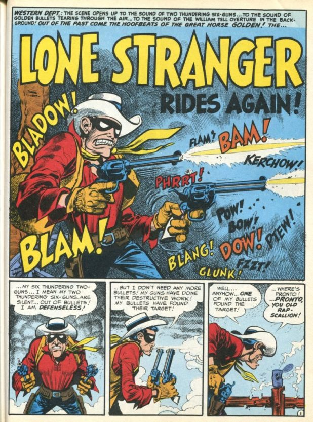 "Jack Davis and Harvey Kurtzman's follow up to their Lone Ranger parody from MAD #3, ""The Lone Stranger Rides Again"", featured in MAD #8 in 1953"
