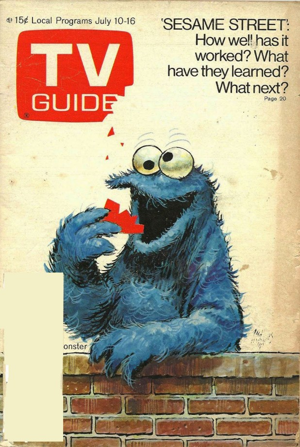 "Jack Davis ""Cookie Monster"" cover for TV Guide, published in July 1971"