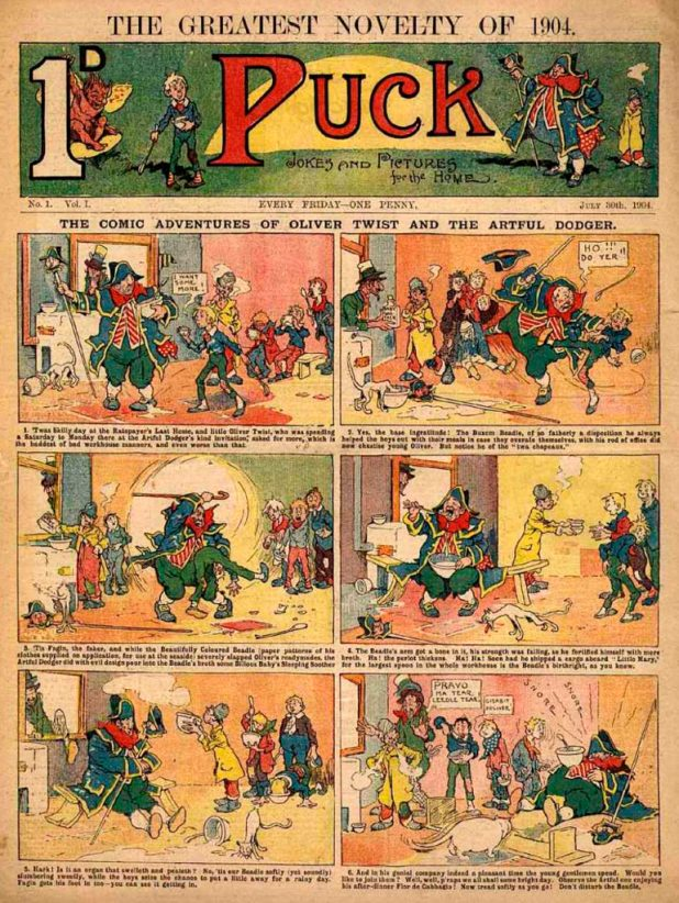 The British comic Puck Issue One, published in June 1904
