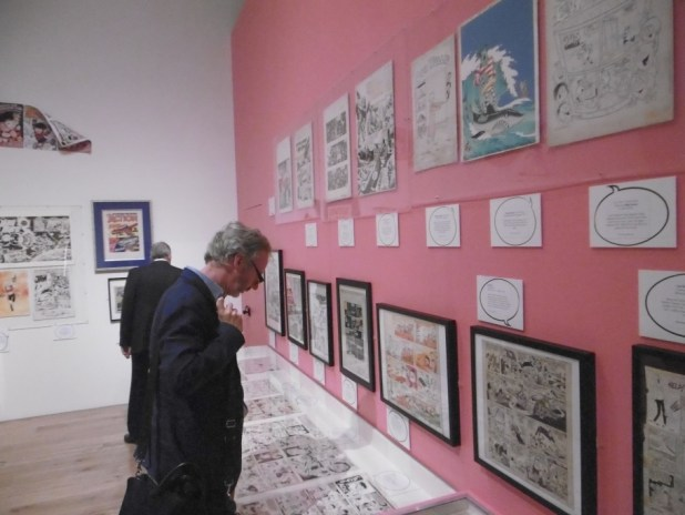 Some of the original artwork on display. Photo: Richard Sheaf