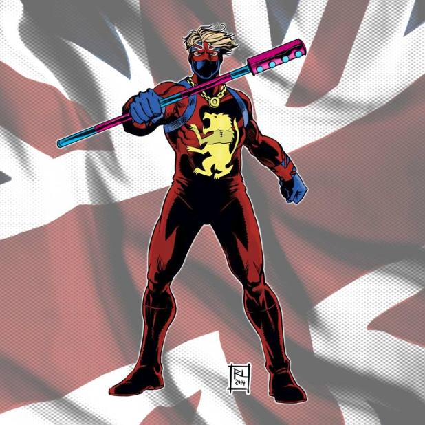 The original Captain Britain by Russ Leach