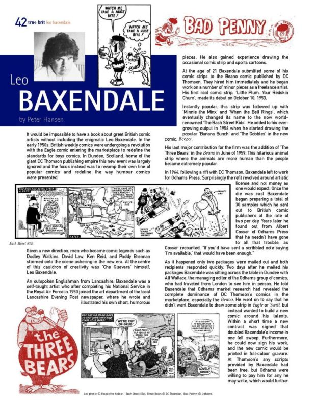 A page from the Leo Baxendale feature in the digital edition of True Brit