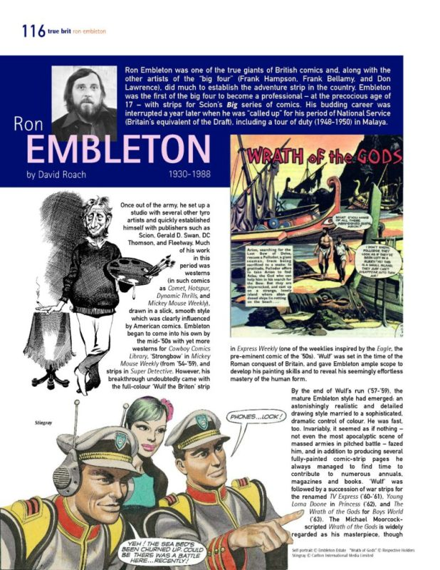 A page from the Ron Embleton feature in the digital edition of True Brit