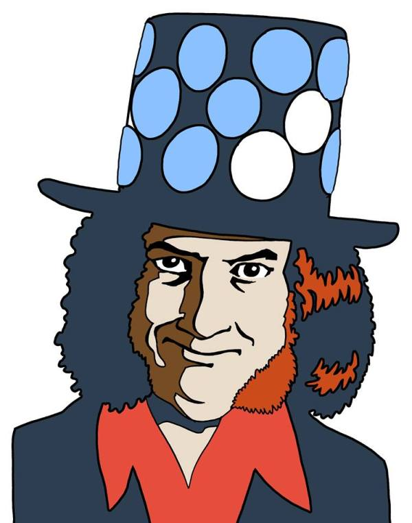 Noddy Holder on his home turf of Beechdale Estate, art by Hunt Emerson