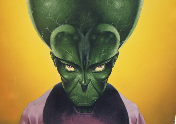 Mekon design by Les Edwards for the unmade Dan Dare film planned by Phenomenal Film Productions