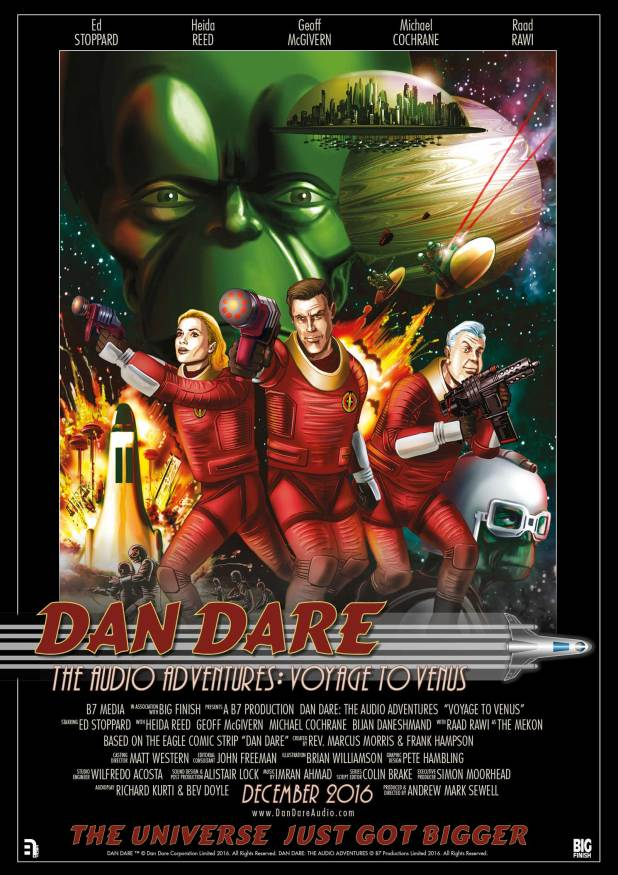 Dan Dare Audio Adventures - Promotional poster. Art by Brian Williamson
