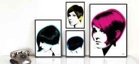 Art & Hue Goes 60s with new hair-inspired pop prints