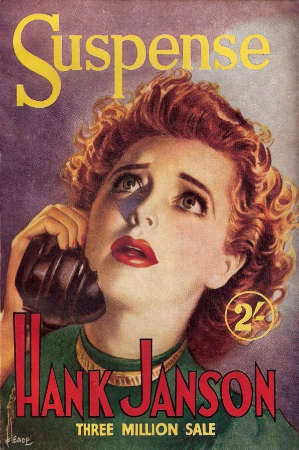 Suspense by Hank Janson. Cover by Reginald Heade