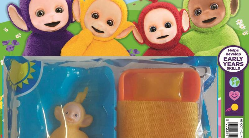 The first issue of Egmont's new Teletubbies magazine, launching in October 2016