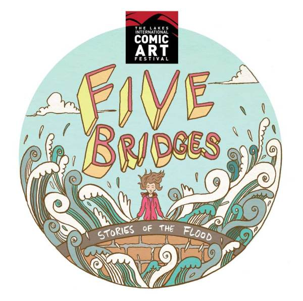 """Five Bridges"" Exhibition Poster by Mike Medaglia"