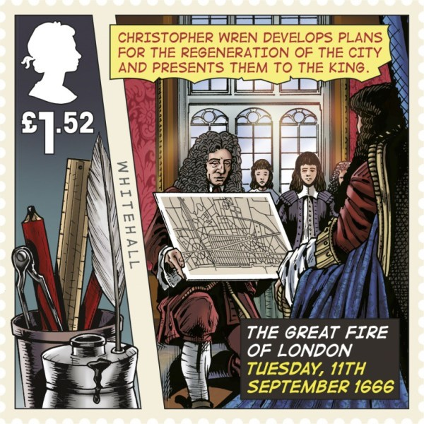 Great Fire of London Stamp -  Stamp £1.52