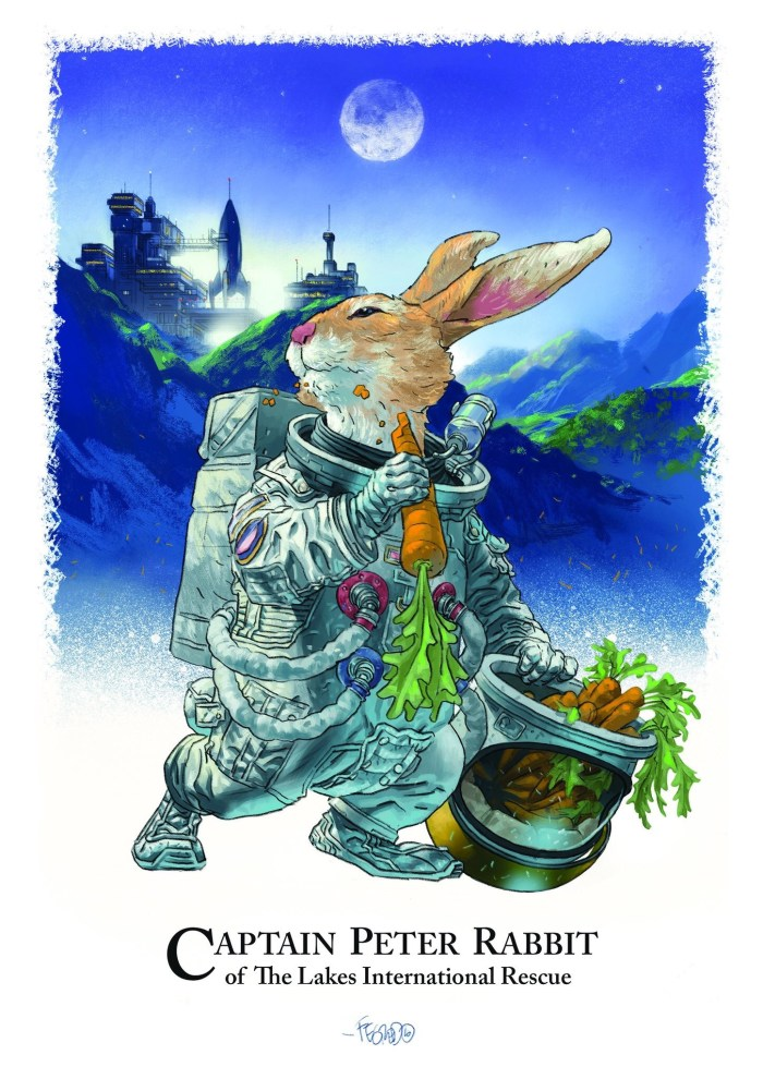 Captain Peter Rabbit of The Lakes International Rescue by Duncan Fegredo