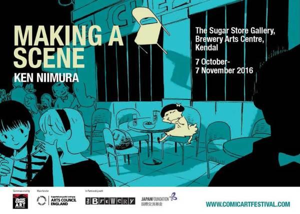 Ken Niimura: Making a Scene Exhibition Poster