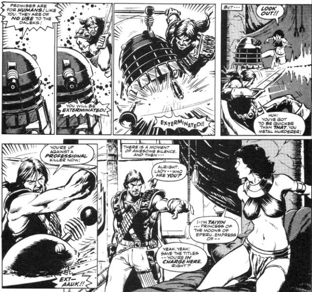 "Art from Doctor Who - ""Abslom Daak, Dalek Killer Episode 1"" for Doctor Who, written by Steve Moore, art by Steve Dillon"