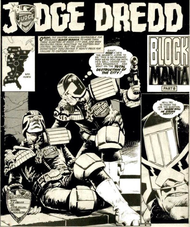 Judge Dredd - Block Mania art by Steve Dillon