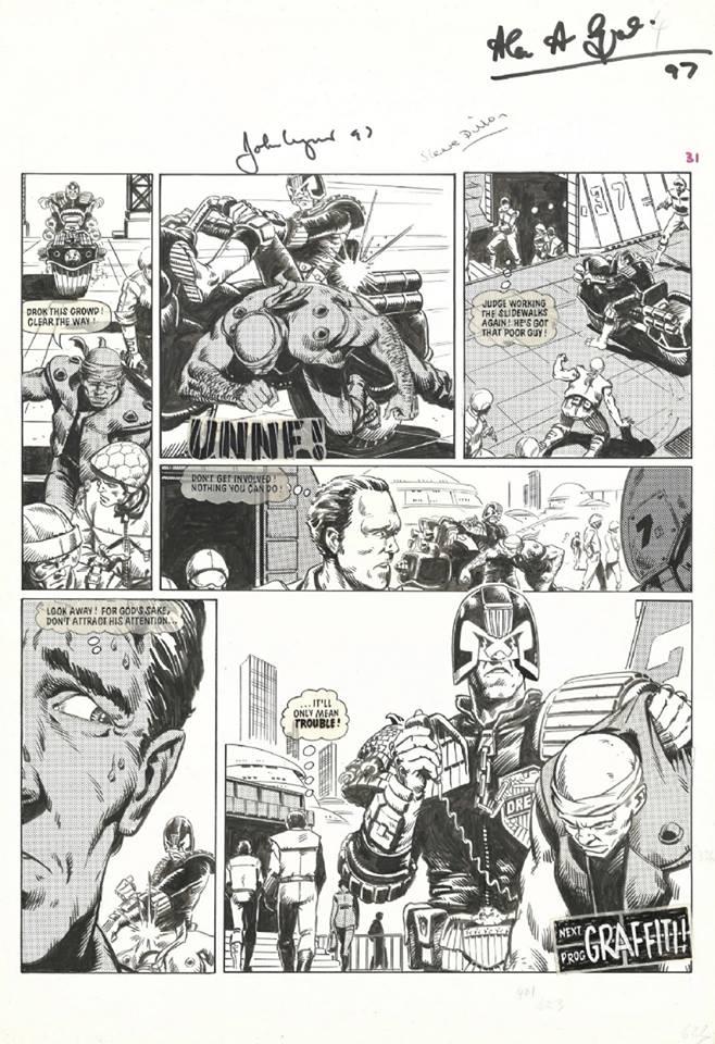 2000AD Prog 205 - Judge Dredd by Steve Dillon