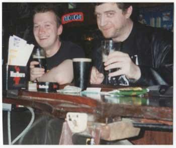 Garth Ennis and Steve Dillon, about 15 years ago. Photo courtesy Garth Ennis