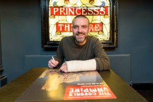 Frank Quitely, who has perhaps been fending off vampires... Photo: Citizens Theatre