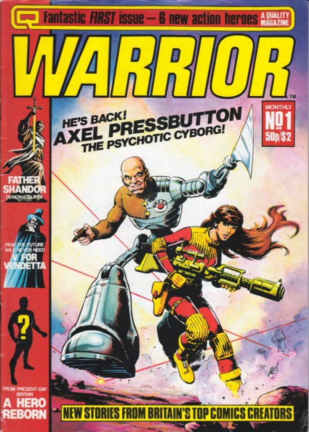 Steve Dillon's cover for Warrior Issue One