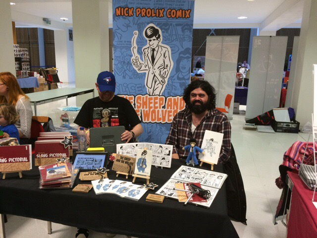 Nottingham Comic Convention 2016 - Dave Robertson and Nick Prolix. Photo: Tony Esmond