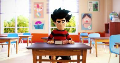 Dennis & Gnasher Unleashed - Dennis in the classroom. Image courtesy DC Thomson/Beano Studios