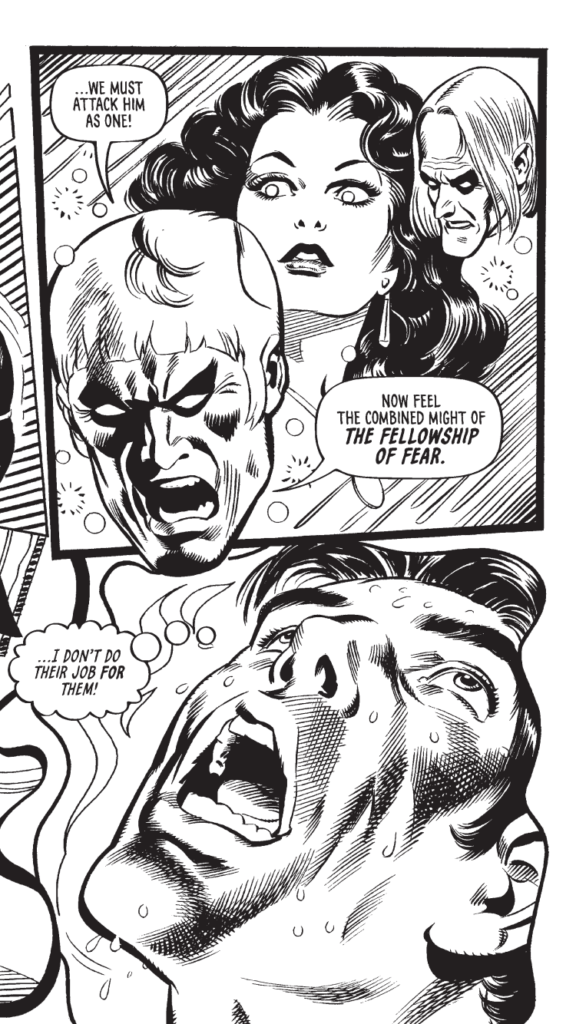 "Panels from the re-discovered episode of ""The Nightcomers"" featured in Hiberna's third Scream-dedicated Comic Archive. Script by Simon Furman, art by José Gonzales"