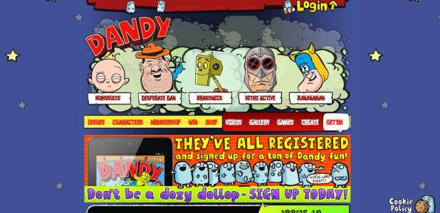 Gone, but not forgotten - The Dandy online