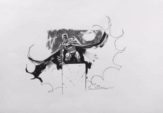 2016 Lakes International Comic Art Festival auction art: Batman by Sean Phillips