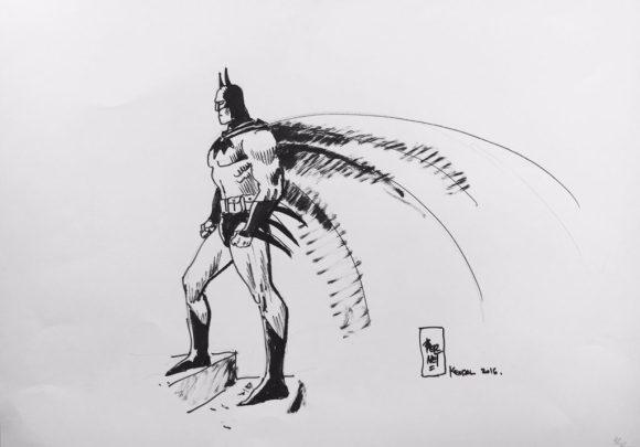 2016 Lakes International Comic Art Festival auction art:  Batman by Jordi Bernet