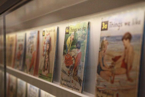 Ladybird Gallery Wall of Books. Image courtesy Ladybird Books