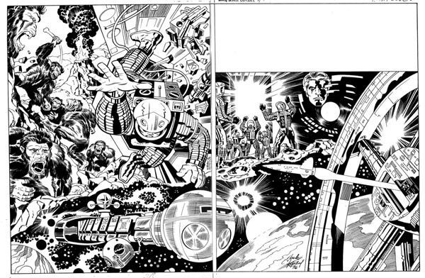 2001 A Space Odyssey Treasury Edition 'Wraparound' Cover - Pencils: Jack Kirby - Inks: Dan Adkins