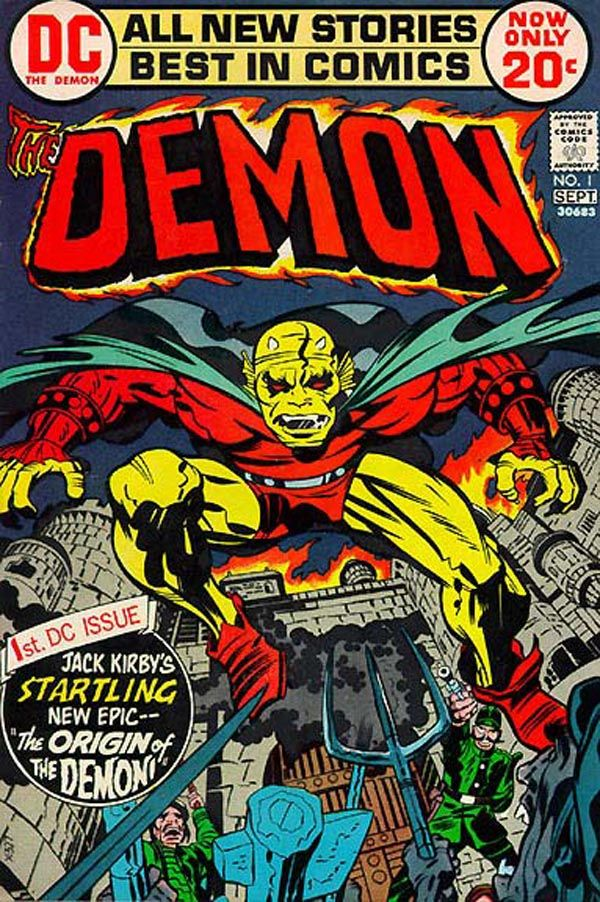 The Demon Issue #1 Cover - Pencils: Jack Kirby - Inks: Mike Royer