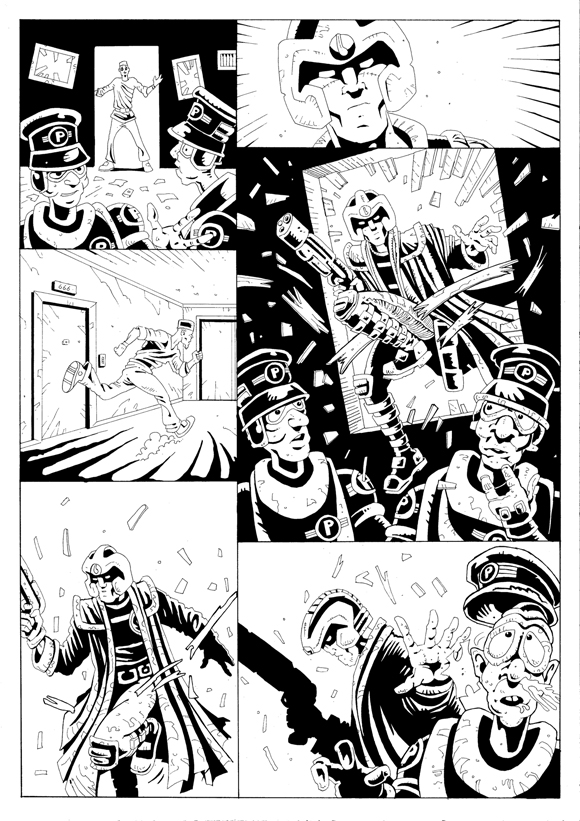 "Strontium Dog ""No Choice At All""  - Inks 2"