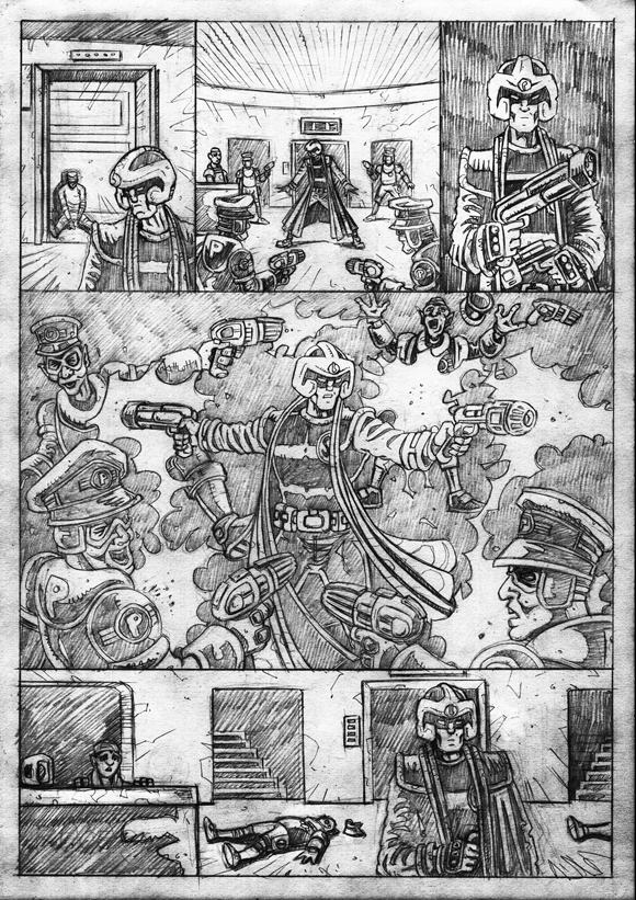 "Strontium Dog ""No Choice At All""  - Pencils 5"