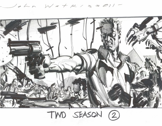 The Walking Dead TV Series storyboard by John Watkiss