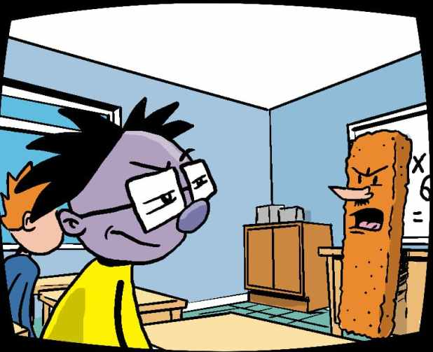Edd's having a bad day at school. Can his Numskulls work out why his teacher has become a giant fish finger?