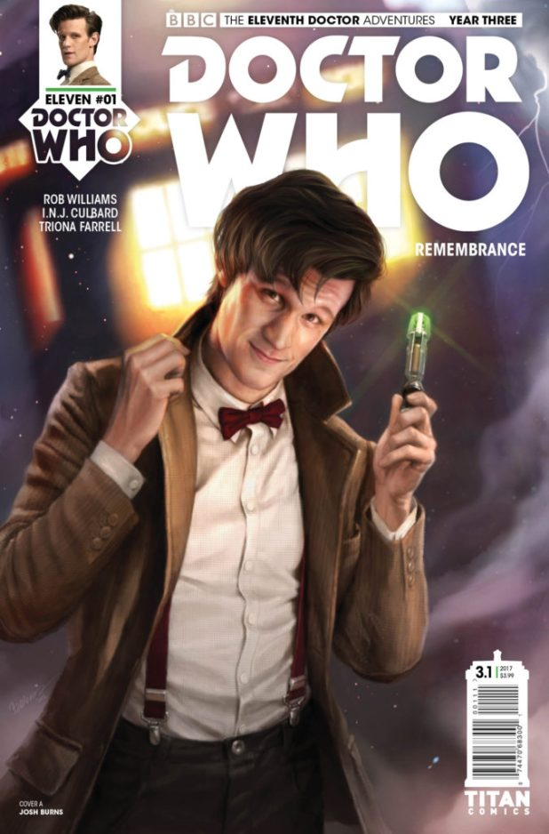 Doctor Who: The Eleventh Doctor Year 3 #1 Cover A by Josh Burns
