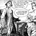 "An example panel from the eighth instalment of ""Mary Read – Soldier and Pirate"" (Answers, 3 May 1952)."