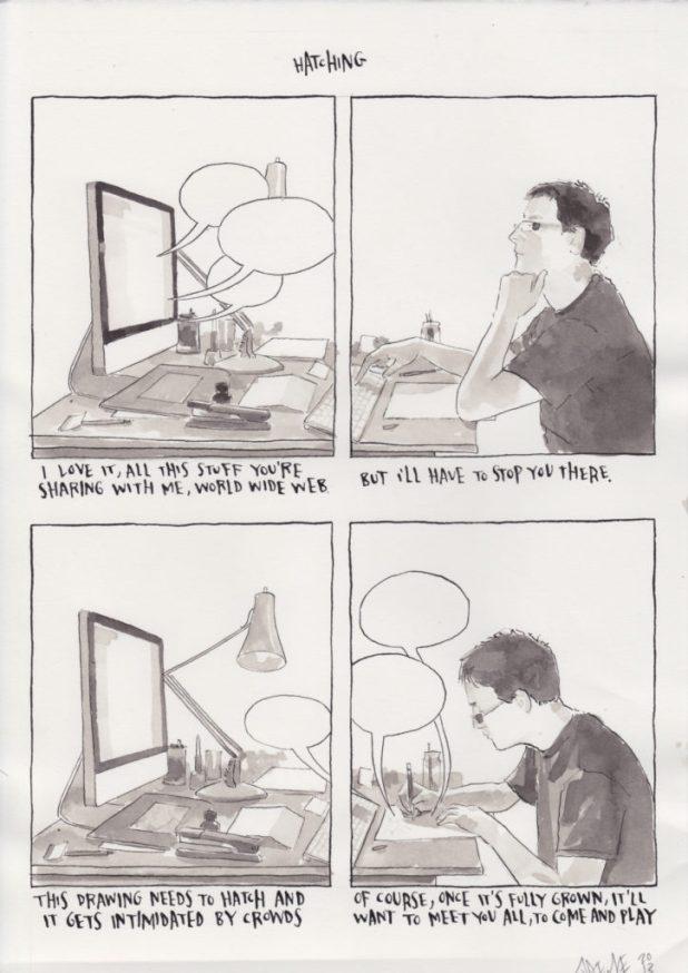 Self portrait by comic artist Joe Decie http://joedecie.tumblr.com