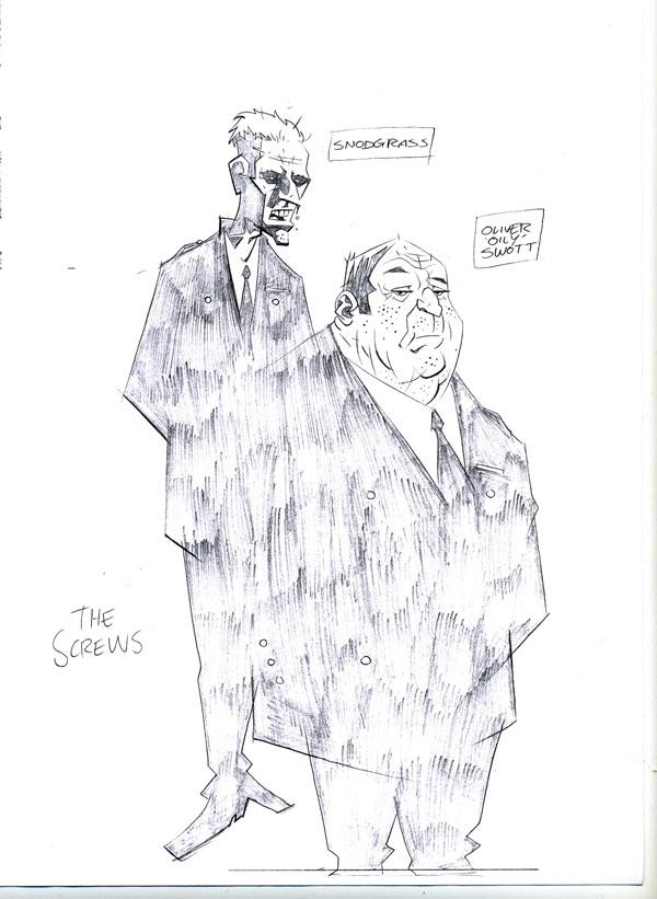 "Shane Oakley's ""Snodgrass and Oliver 'Oily' Swott"" design"