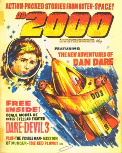 """An early dummy cover for """"AD2000"""", cover artist unknown"""