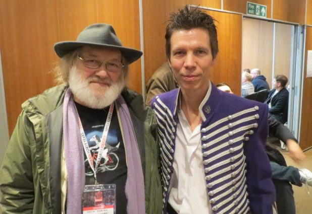 Veteran 2000AD and Starlord writer and staffer Chris Lowder with Wakefield Carter (Photo courtesy Wakefield Carter)