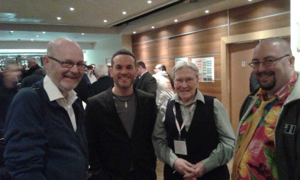 downthetubes' John Freeman with Phillip Vaughn, Ian Kennedy and Chris Murray. Photo: Richard Sheaf