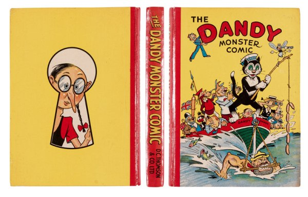 Dandy Monster Comic (1942). Desperate Dan powers the Dandy boat! From the Brenda Butler Archive