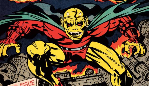 Detail from the cover of The Demon #1, published in 1972. Art by Jack Kirby